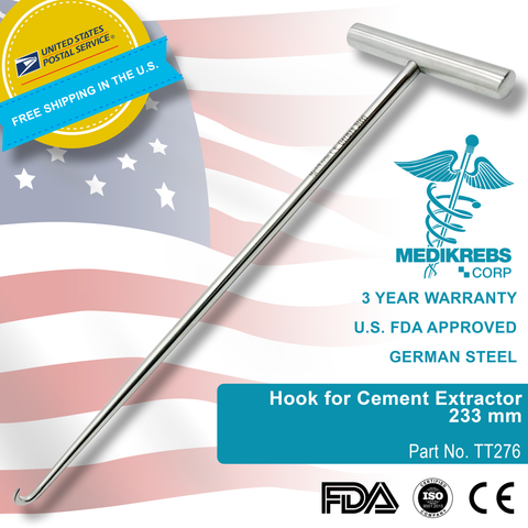 Hook for Cement Extractor 233 mm Surgical Instruments