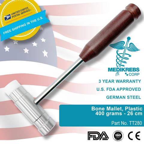 Bone Mallet on side Plastic 400 grams 26 cm Surgical Instruments