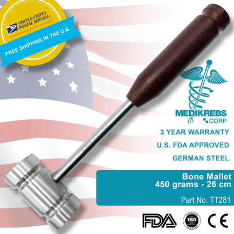 Bone Mallet 450 grams 26 cm Surgical Instruments