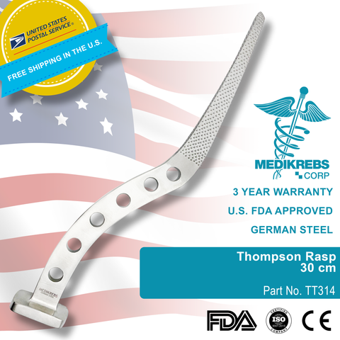 Thompson Rasp Bone 30 cm Orthopedics Surgical Instruments