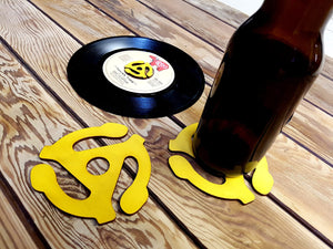 45 Record Insert - Wooden Coasters