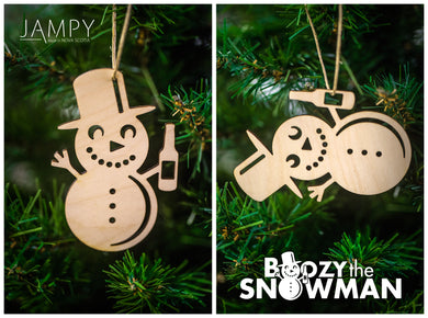 Boozy the Snowman - Set of 4