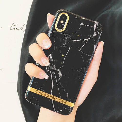 Fashion Soft Granite Marble Stone Print Cases For iphoneX