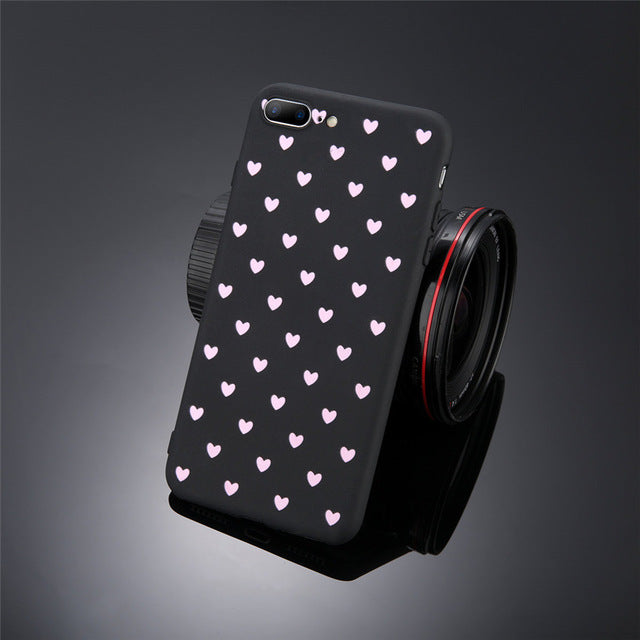 Love Heart Soft TPU Phone Case For iPhone