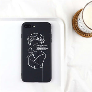 Cartoon David Art Painted Phone Case For iphone