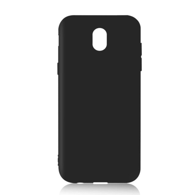Black Slim TPU Phone Case For Samsung Galaxy
