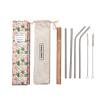 Sunny Straws Luxe Ecofriendly Stainless Steel Straw Set