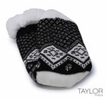 Taylor Slipper Sock Black