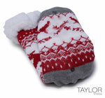 Taylor Slipper Sock Red