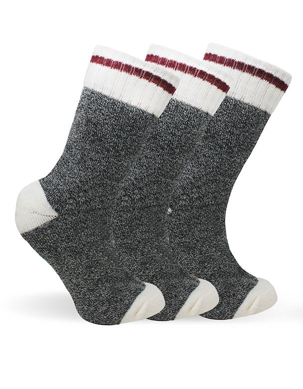 Women's Dark Grey Cabin Thermal Socks-Pack of 3 pairs