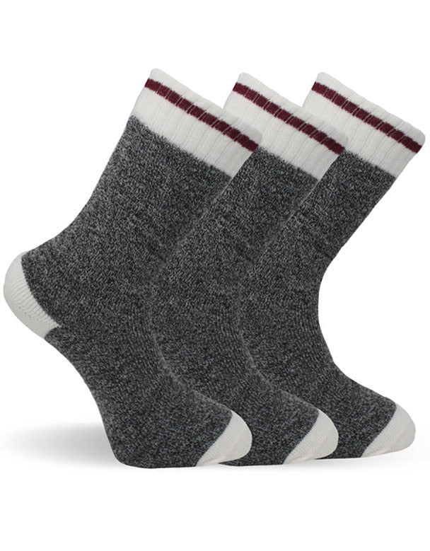 Men's Dark Grey Cabin Thermal Socks-Pack of 3 pairs