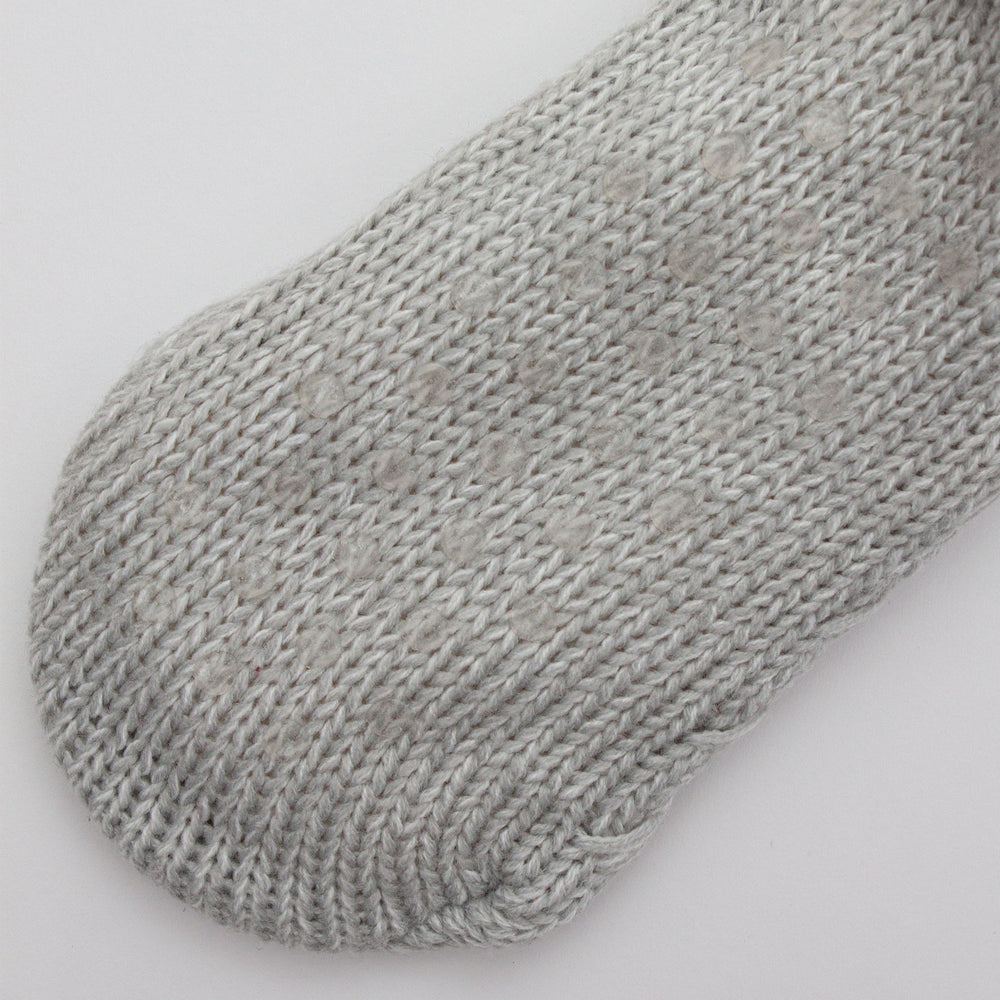 The Anka Knit Slipper Sock Soft Grey