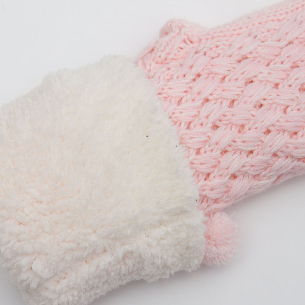 The Anka Knit Slipper Sock Soft Pink