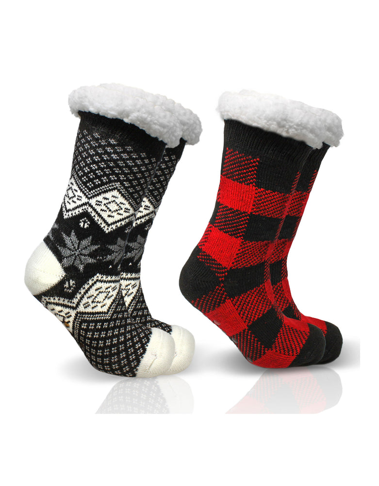 2 Pack Taylor Slipper Socks - Winter Set