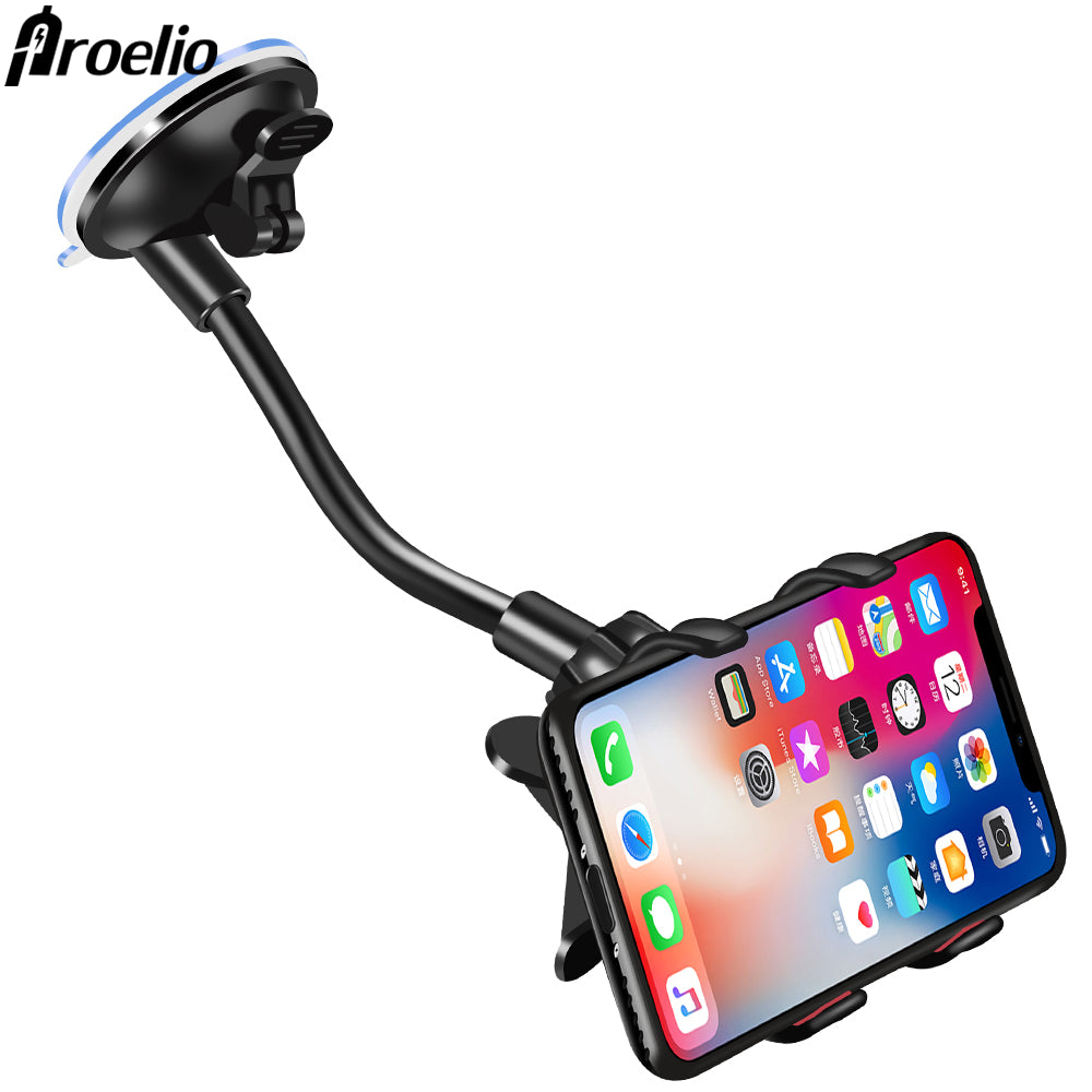 Proelio Phone Car Holder Flexible 360 Degree Rotation Car Mount Mobile Phone Holder For Smartphone Car Phone Holder Support GPS
