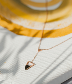 Inverted Crush Necklace by FASHKA, product photo shoot.