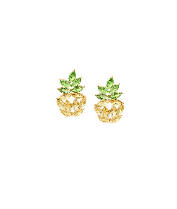 Crystal Pineapple Studs Earrings