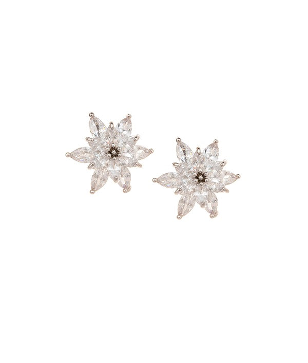 Crystal Flowers Classy Stud Earrings