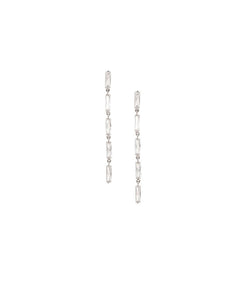 Crystal Lines Classy Dangler Earrings