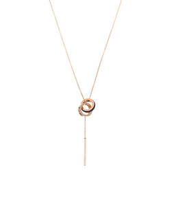 Forever Necklace by Fashka in Rose Gold & Black colour
