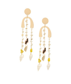 Boho Lines Long Dangler Earrings