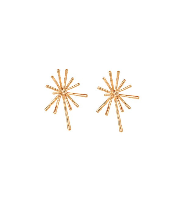 Golden Explosion Stud Earrings by Fashka