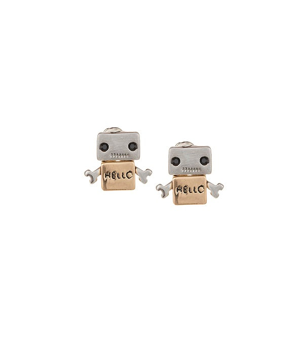 Hello Robo Stud Earrings