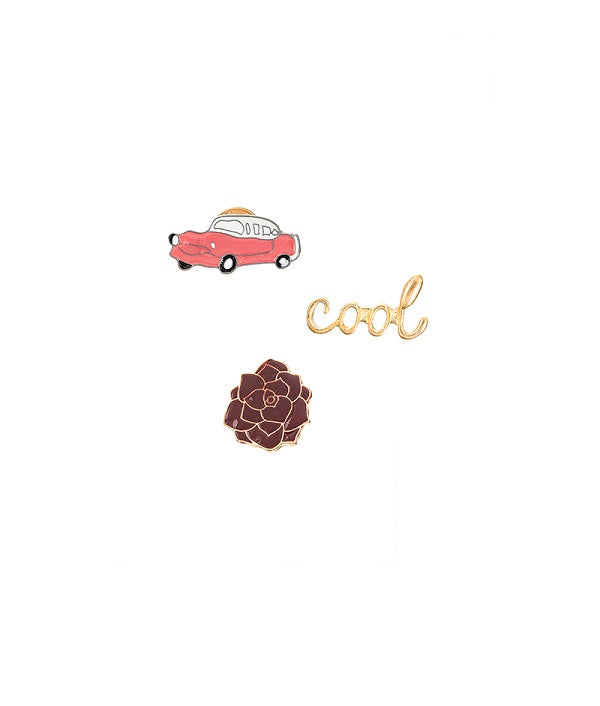 Cool & Curious Set of 3 Lapel Pins / Brooch