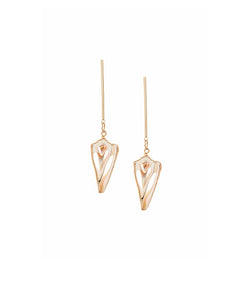 Natural Shell Slice Earrings by FASHKA