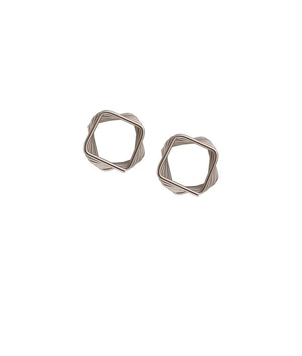Silver Spirals Stud Earrings by FASHKA