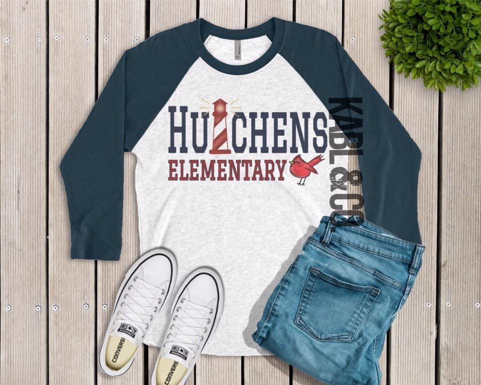 HUTCHENS CARDINALS Lighthouse (Navy Raglan)