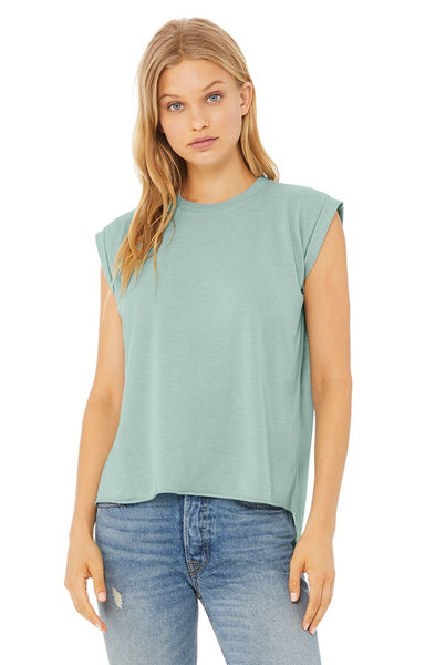 Flowy Tee with Cap Sleeve