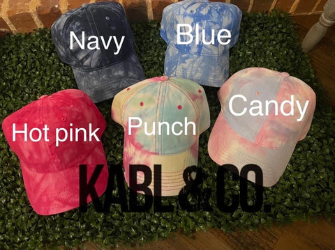 Tie Dye Ball Cap - Adult
