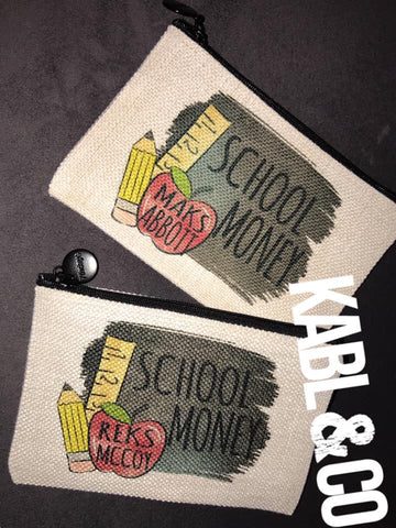 SCHOOL MONEY POUCH