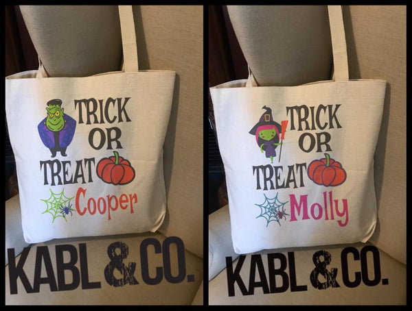 Trick or Treat Bags - Halloween