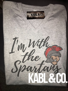 I'm with the Saraland Spartans - Vneck