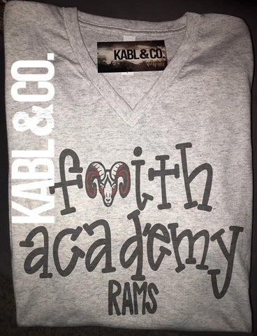 FAITH ACADEMY RAMS - Vneck