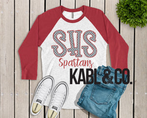Saraland Spartans 2 (Red Raglan)