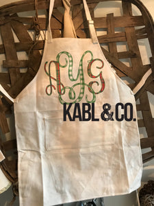 Christmas Monogram Apron