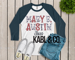 Mary B Austin (Navy Raglan)