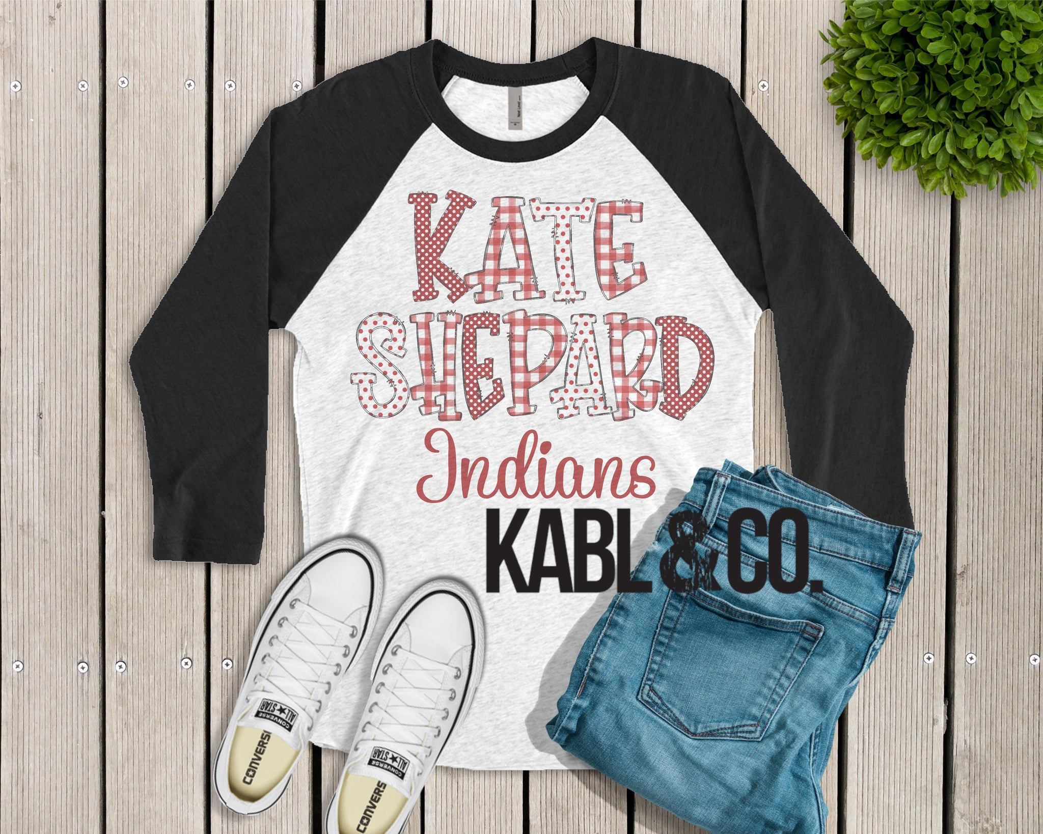 Kate Sheppard Indians (Black Raglan)