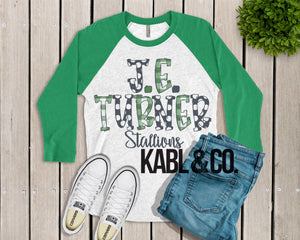 JE Turner (Green Raglan)