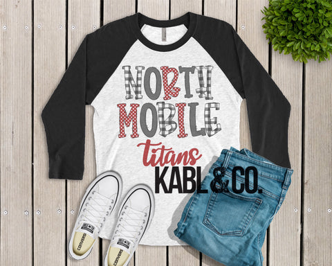 NORTH MOBILE TITANS (Black Raglan)