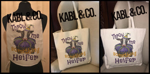 THROW ME SOMETHING HEIFER BAGS & TOTES - Mardi Gras