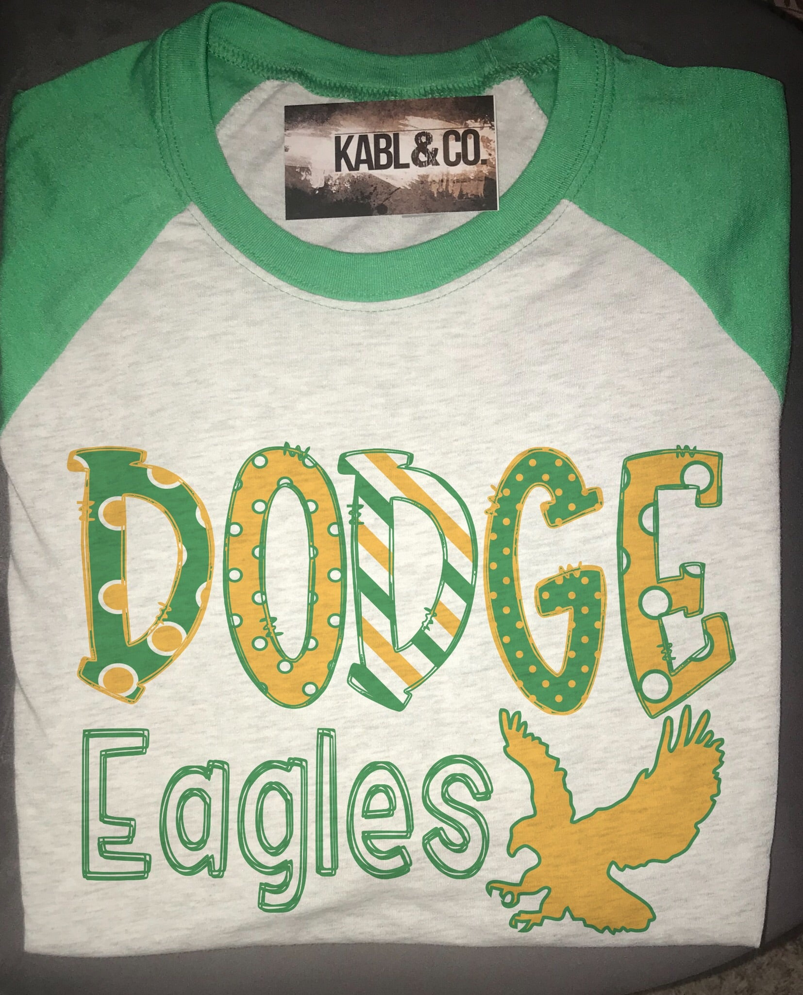 Dodge Eagles (Green Raglan)