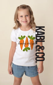 BUNNY CARROTS (child) CUSTOMIZE - Easter