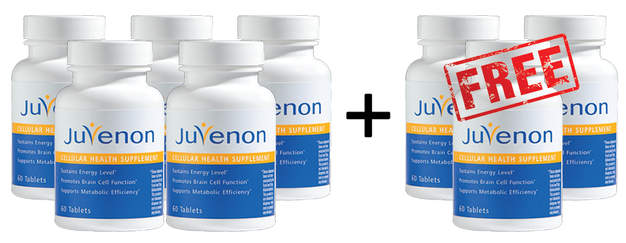 Buy 5 Get 3 FREE Juvenon Cellular Health