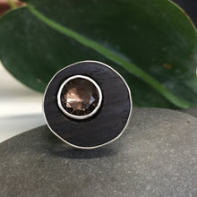 Load image into Gallery viewer, Smoky Quartz and Ebony Ring