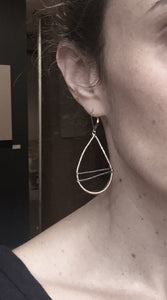 Hand-Wrapped Two-Tone Hoop Earrings