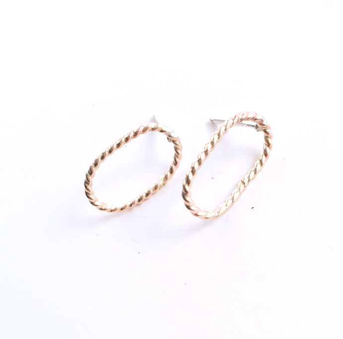 Simple Gold-Filled Oval Earring